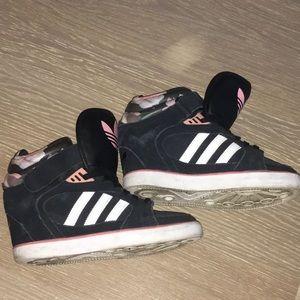 Adidas Floral Wedge Sneakers